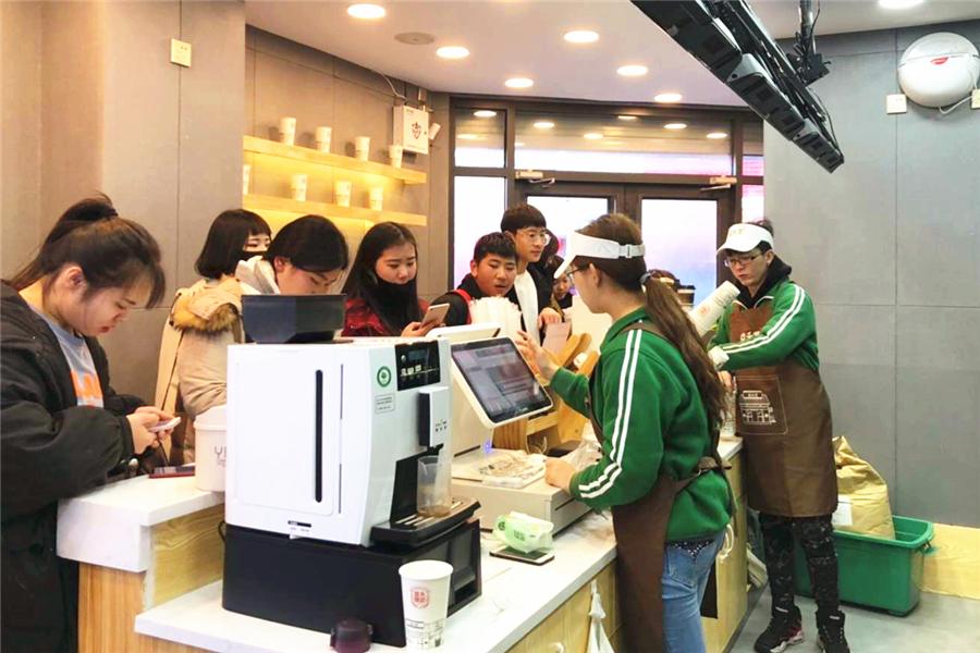 益禾堂奶茶店使用咖乐美商用全自动咖啡机